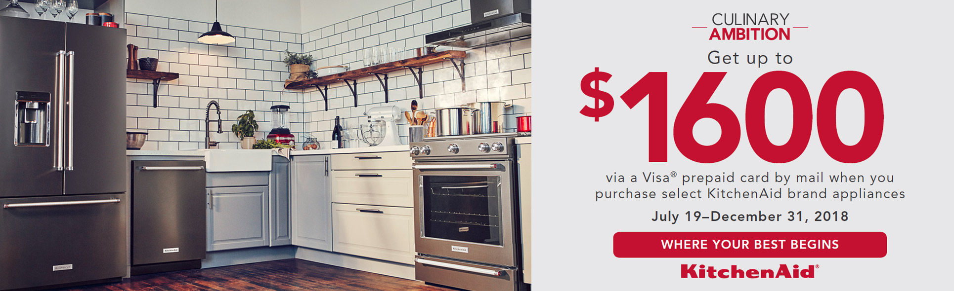 KitchenAid Culinary Ambition- Save up to $1600
